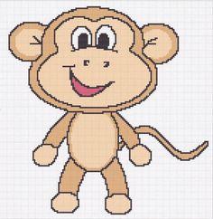 (4) Name: 'Crocheting : monkey 1 afghan graph pattern