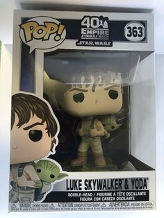 Star Wars: Empire Strikes Back Training Luke with Yoda Pop! Star Wars Luke Skywalker, Pop Vinyl Figures, Toys Online, 40th Anniversary, Toy Store, Bobble Head, Empire Strikes, Action Figures, Mickey Mouse
