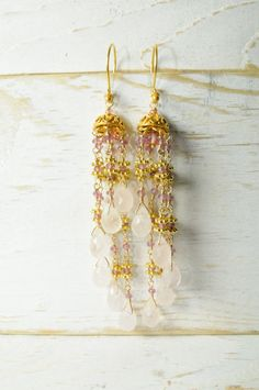 Pink Sapphire and Rose Quartz Statement by LillyputLaneDesignCo, $178.00