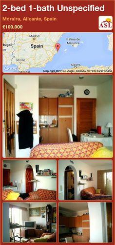 2-bed 1-bath Unspecified in Moraira, Alicante, Spain ►€100,000 #PropertyForSaleInSpain