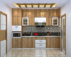 This flat in Kolkata will make you WOW Flat Interior Design, Commercial Interior Design, Apartment Interior Design, Flat Design, Interior Design Kitchen, Kitchen Designs, Kerala House Design, Small House Design, Wallpaper For Home Wall