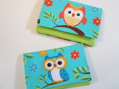 Cute Owl Wallets for Women, Wallet with Owls, Small Wallets, Wallets with pockets, Card Wallet, Change Purse, Cash Wallet, Made To Order