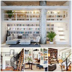 Leef Uniek | Inspiratie | Woonkamer *Inspiratie voor je eigen unieke bibliotheek in huis!*