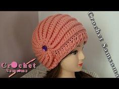 Sombrero tejido a crochet con aplicaciones de rosas - paso a paso - YouTube