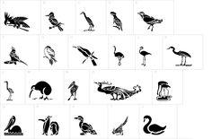 HFF Bird Stencil dingbat font | DingbatDepot.com