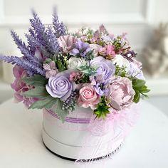 Shabby Flowers, Diy Flowers, Purple Flowers, Fresh Flowers, Wedding Flowers, Deco Floral, Arte Floral, Floral Design, Purple Flower Arrangements