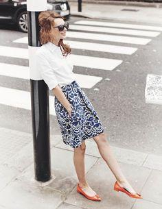 Kate Ponte Skirt WG583 A-line & Full at Boden