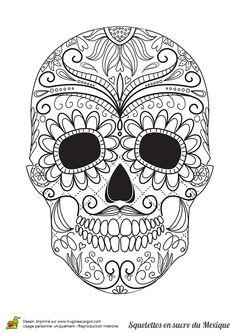 Photos dessin tattoo crane Mexican page 5 Sugar Skull Design, Sugar Skull Art, Sugar Skulls, Candy Skulls, Mexican Skulls, Mexican Art, Mexican Candy, Tattoo Crane, Los Muertos Tattoo