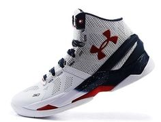 6abb161cad0 Cheapest Place To Buy Men s Under Armour UA Curry 2 White Grey Dark-blue  Dark-red Basketball Shoes Cheap Sale