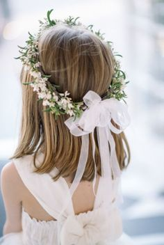 38 Super Cute Little Girl Hairstyles for Wedding - Wedding Crown Girls Crown, Flower Girl Crown, Flower Crowns, Flower Girl Headpiece, Simple Flower Crown, Flower Girl Wreaths, White Flower Crown, Flower Girl Basket, Cute Little Girl Hairstyles