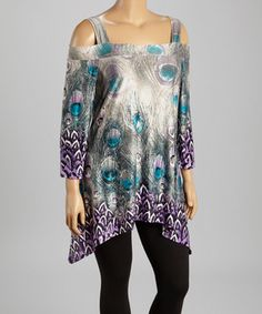 Look what I found on #zulily! Peacock Cutout Sidetail Tunic - Plus by Come N See #zulilyfinds