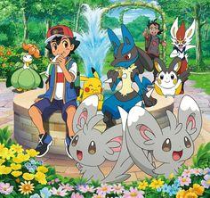 Pokemon Poster, Pokemon Team, Pokemon Fan Art, Lucario Pokemon, Ash Pokemon, Pokemon Comics, All Pokemon Drawing, Pokemon People, Pikachu Kunst