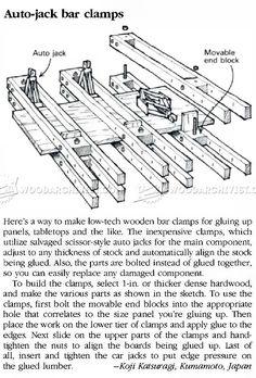 DIY Bar Clamp - Panel Glue Up Tips, Jigs and Techniques | WoodArchivist.com