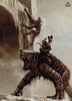 ArtStation - The Hobbit - Battle of Five Armies Orc Creatures High Fantasy, Dark Fantasy Art, Medieval Fantasy, Fantasy Artwork, Fantasy World, Fantasy Rpg, Fantasy Monster, Monster Art, O Hobbit