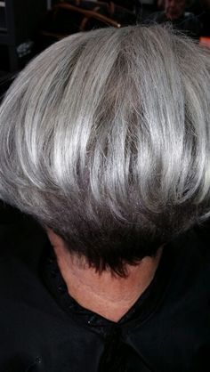 17 Best Gray Hair Styles Images On Pinterest Short Bobs