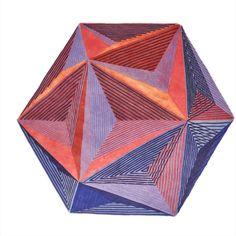 Isocaedro Carpet, Limit Ed, Handknot, Wool+Bamboo Silk, Lanzavecchia+Wai Kelly Wearstler, Milan Design Week 2017, Asian Rugs, Geometric Rug, Carpet Colors, Modern Rugs, Optical Illusions, Sacred Geometry, Rugs On Carpet