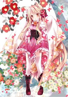Anime Kawaii Girl /^ω^\ - Anime Kimono 2 - Wattpad Manga Pokémon, Manga Kawaii, Loli Kawaii, Kawaii Anime Girl, Anime Neko, Anime Kimono, Fan Art Anime, Anime Artwork, Pretty Anime Girl