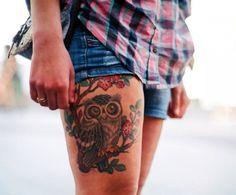 Татуировки в виде совы