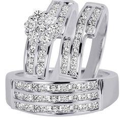 1 34 carat tw round cut diamond womens engagement ring ladies wedding band