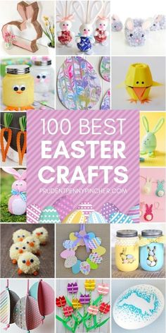 100 Best Easter Crafts #eastercrafts #easterdecorations #easter #diy #crafts