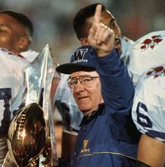 DON JAMES, AFTER HIS 1991 HUSKIES BEAT MICHIGAN 34-14 IN THE ROSE BOWL TO CAP A 12-0 SEASON, SEEMED TO KNOW WHAT WAS COMING UW'S WAY THE NEX...