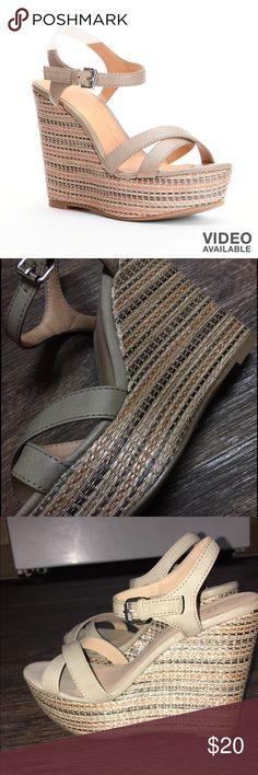 Lauren Conrad wedges Worn once LC Lauren Conrad Shoes Wedges