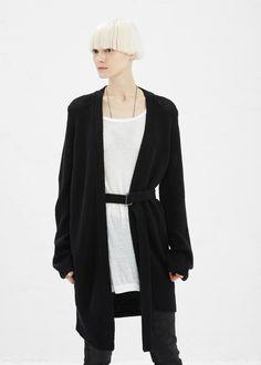 Ann Demeulemeester Gloss Knit Cardigan (Black)