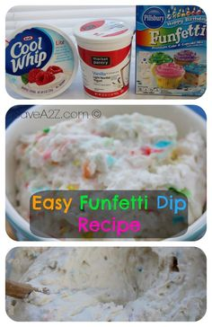 Easy Funfetti Dip Recipe   Making this  for our parties this weekend !!!