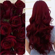 1 o o Te gusta, comenta y comparte. Hair Color And Cut, Cool Hair Color, Pelo Color Vino, Wine Hair, Dark Red Hair, Curly Red Hair, Brown Hair, Teal Hair, Violet Hair