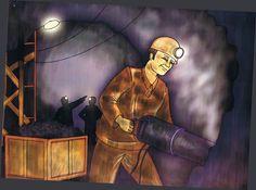 Pomysły na prace plastyczne, scenariusze zajęć dydaktycznych w przedszkolu, wiersze i opowiadania Coal Mining, Painting, Fictional Characters, Art, School, Art Background, Painting Art, Kunst, Paintings