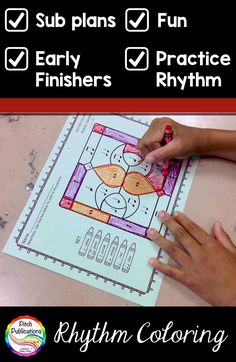 These are FANTASTIC worksheets.  So many options from Kindergarten on up!  Practice identifying and counting rhythms.  Perfect for elementary music sub plans or early finishers!