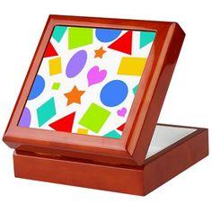 Shapes and Colors Keepsake Box on CafePress.com