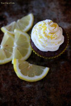 Chocolate Lemon Cupcakes with Lemon Cream Frosting