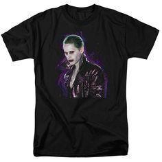 Suicide Squad Joker Stare Adult Tee - Black