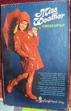 COLORFORMS: 1965 Miss Weather Dress-Up Kit #Vintage #Toys