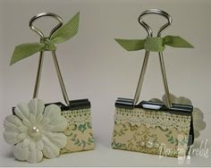 Photo Holders using a Binder Clip