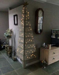 A way to add extra Christmas cheer in the guest wing without taking up space!