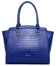 2a2478ea1e CLUCI Women s Crocodile Grain Leather Handbags Designer Purse Tote Shoulder  Bags Black  Handbags  Amazon.com