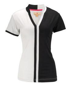 92380de61884 Sport Haley Black   White Athletic Polo