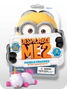 Despicable-Me-2 puzzle erasers!! collect all 12