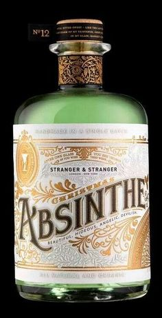 Stranger & Stranger Christmas Absinthe January 2011 i 'Every year Stranger & Stranger sends out a stunning, limited edition custom designed bottle of liquor. This year, Absinthe made the cut, and the results are stunning. Vintage Packaging, Brand Packaging, Packaging Design, Bottle Packaging, Pretty Packaging, Food Packaging, Whisky, Label Design, Graphic Design