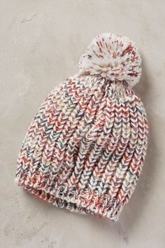"The ""copycat"" pattern is just a regular stockinette hat, but the original anthropologie hat is a fisherman's rib--would look great with a bulky yarn"