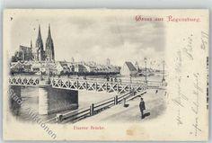 8400 Regensburg 1899 Eiserne Brücke