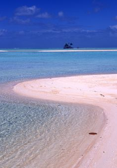 The famous pink sand on the beaches of Tikehau and Rangiroa evolved over thousands of years. It consists partly of the finely ground remains of corals and crustaceans, giving it it's unique colour. Credit: Lam Nguyen