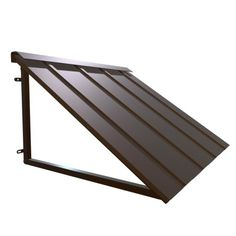 The HOUSTONIAN® metal standing seam awning is a Beauty-Mark® Brand by Awntech®. It adds loads of curb appeal. The HOUSTONIAN®, comes in four patinas (bronze, copper, iron, pewter). Metal Awnings For Windows, Outdoor Window Awnings, House Awnings, Front Door Awning, Porch Overhang, Porch Awning, Metal Door Awning, Metal Garage Doors, Metal Siding