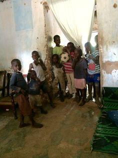 Children in the compound