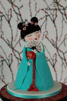 Girly Cakes, Fancy Cakes, Cupcakes, Cupcake Cakes, Japanese Cake, Japanese Doll, Japanese Party, Beautiful Cakes, Amazing Cakes