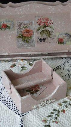 pudra vintage güllü peçetelik