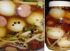 Pickled Eggs and Smoked Sausage