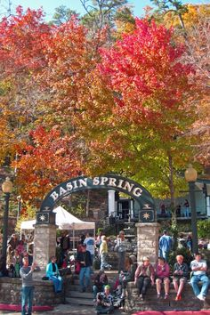 Basin Spring Park in Eureka Springs